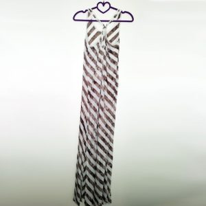 StylEase - Striped Tie Dye Maxi Dress - Brown
