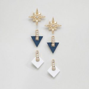 Geometric NY Earring Set (Contains 3 pairs of Earrings)