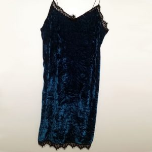 StylEase - Teal Velvet Mini Dress