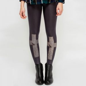 StylEase - Cross Printed Leggings