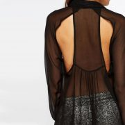 StylEase - Cut Out Back Blouse
