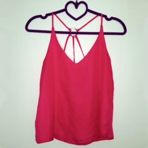StylEase - Hot Pink Criss Cross Back Top