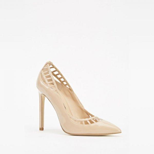 StylEase - Light Pink Cut Court Heels