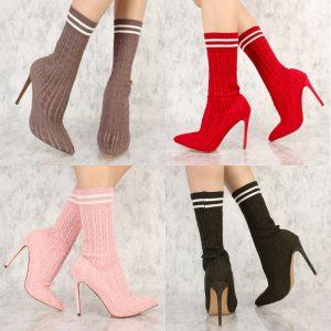 Mock Sock Anklet Boots