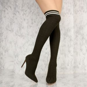 Mock Sock Thigh High Boots