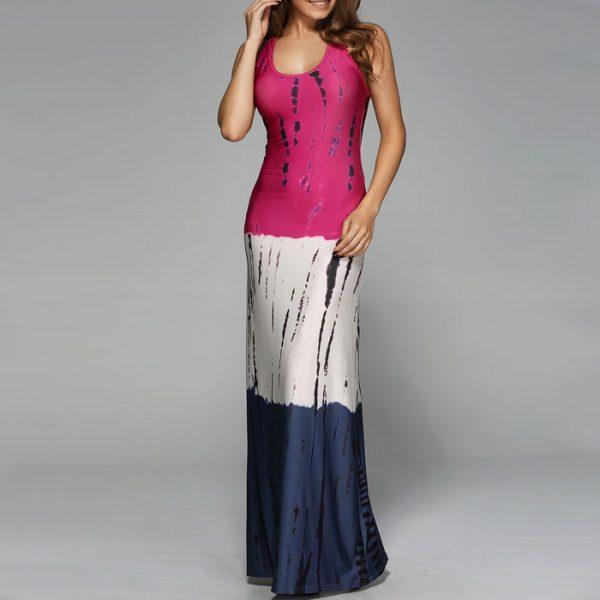 StylEase - Tie Dye Ombe Maxi Dress