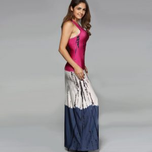 StylEase - Tie Dye Ombe Maxi Dress