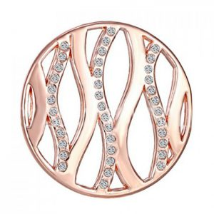 StylEase - Elegant Cut Out Silver Rose Gold Necklace